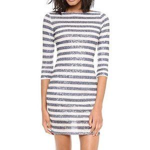 Alice + Olivia Sequin Striped Dress